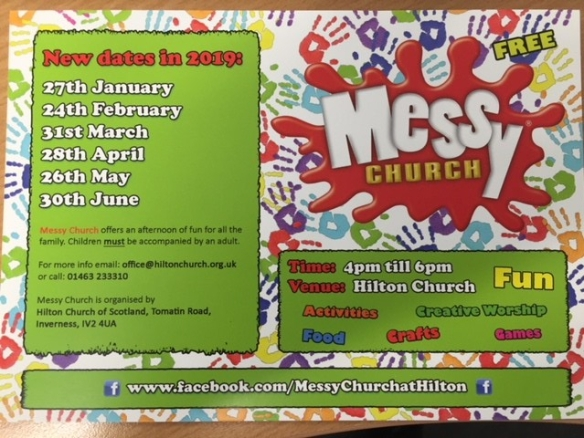 messy church jan 2019