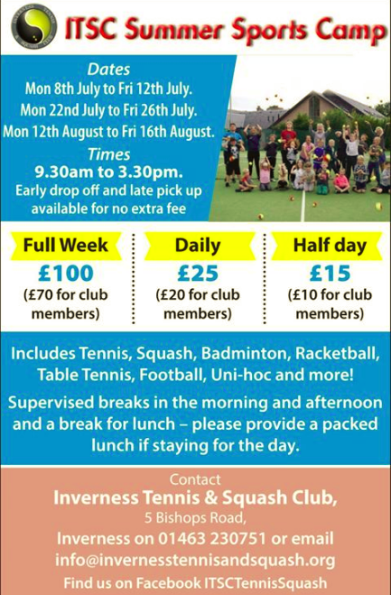 Inverness Tennis Club Summer Poster